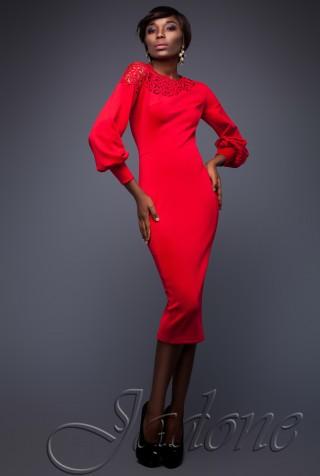 Платье Розет красный