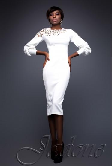 Платье Розет белый