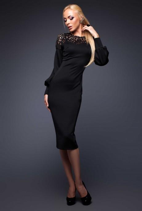 Платье Розет черный