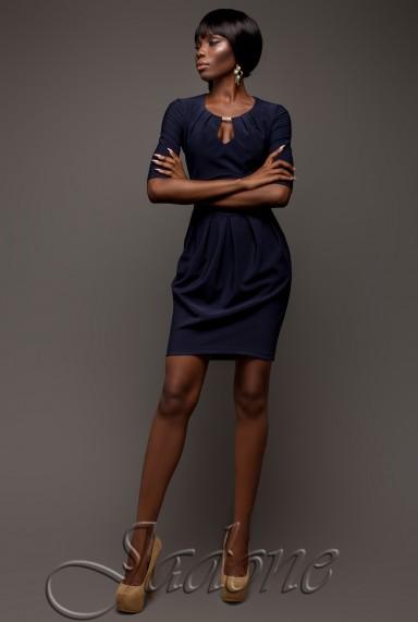 Платье Камерон тёмно-синий