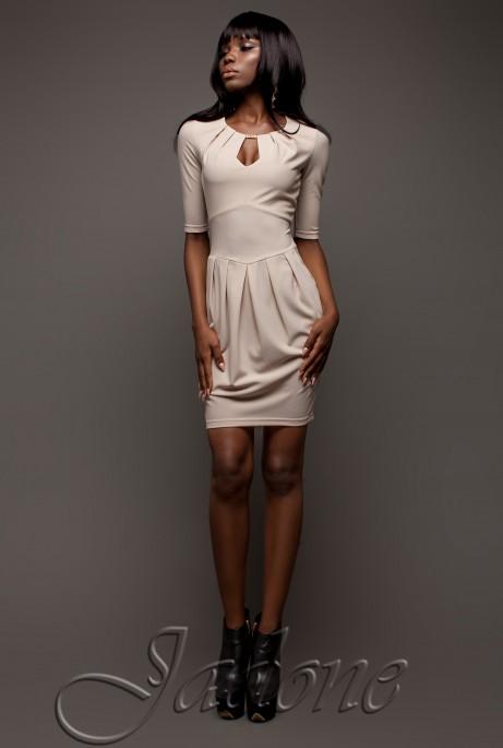 Платье Камерон бежевый