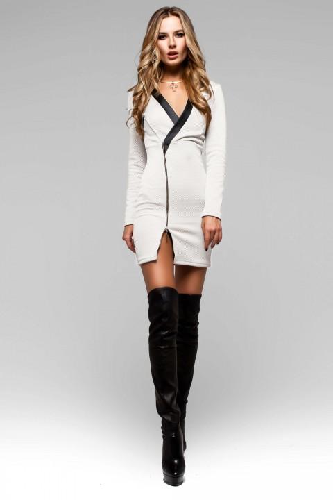385b5c233 Платье Феличита молочный ультрамодное мини-платье