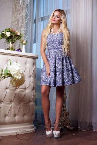 Платье Bonjour тёмно-синий
