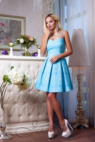 Платье Bonjour голубой