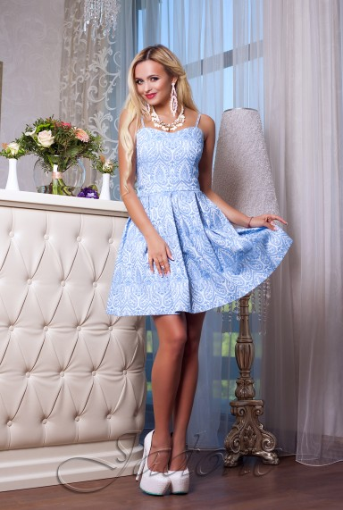 Платье Bonjour синий