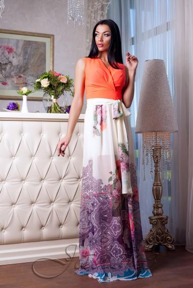 Платье Кармелитта М1  оранжевый