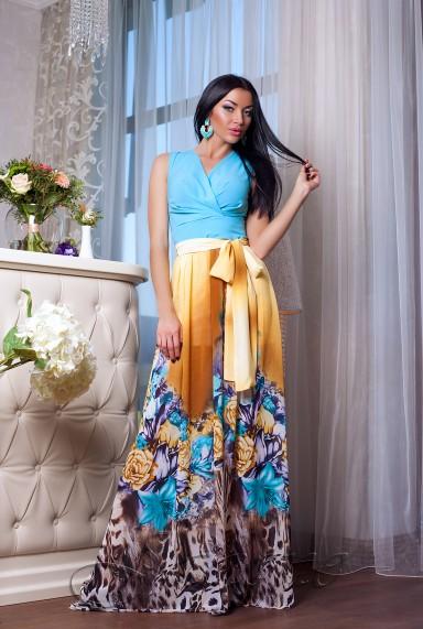 Платье Кармелитта М2  голубой