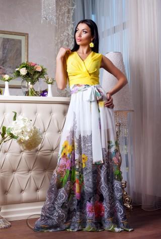 Платье Кармелитта М3 жёлтый