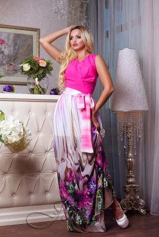 Платье Кармелитта М5  малиновый
