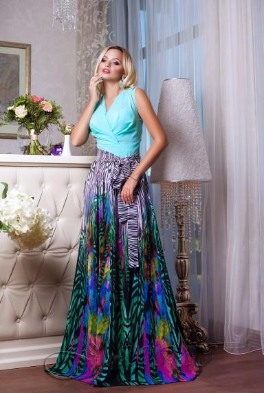 Платье Кармелитта М7  бирюзовый