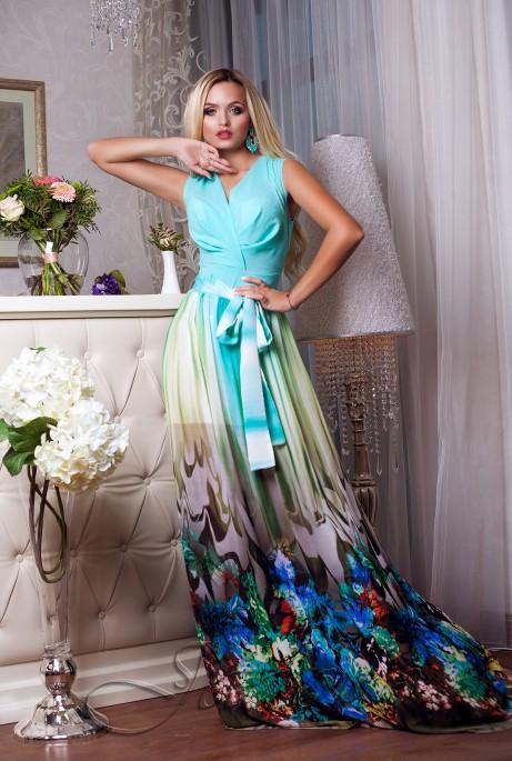Платье Кармелитта М6  бирюзовый