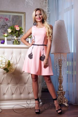 Платье Лолитта персиковый
