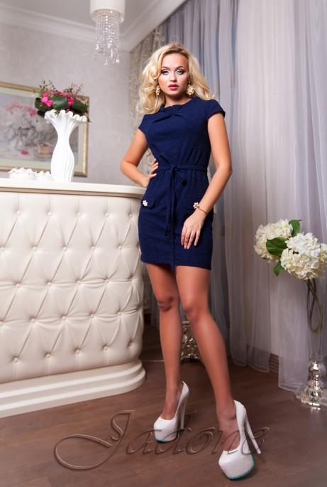 Платье Verona тёмно-синий
