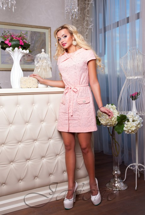 Платье Verona персиковый