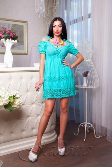 Платье Миледи бирюзовый
