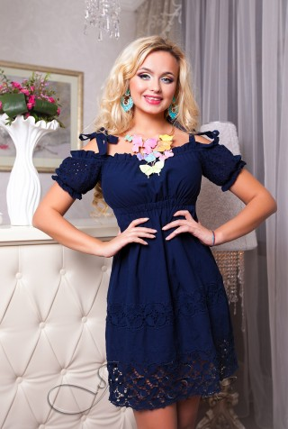 Платье Миледи синий