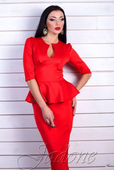 Платье miss Stelly красный