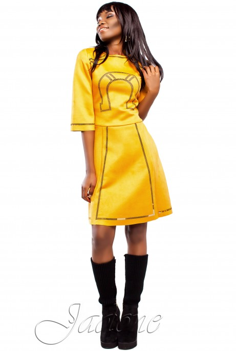 Платье Трейси  горчица