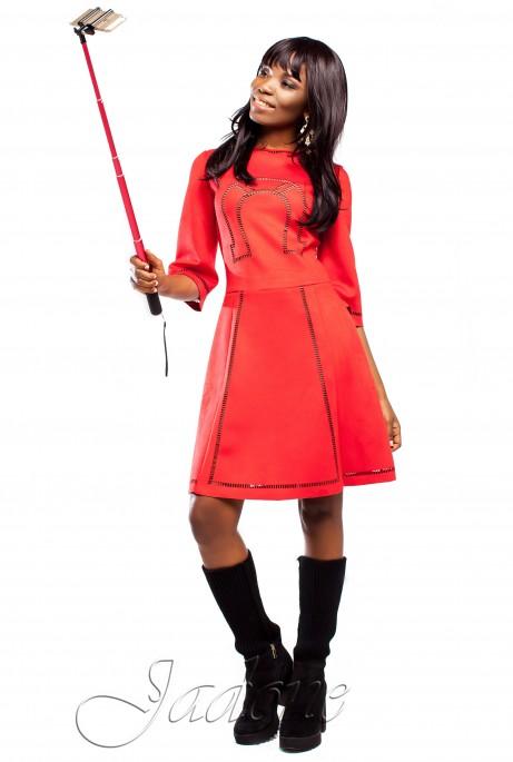 Платье Трейси  красный