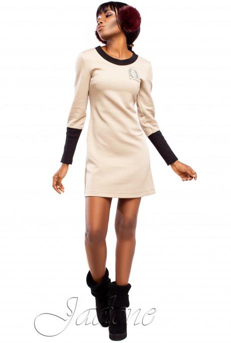 Платье Марсо бежевый
