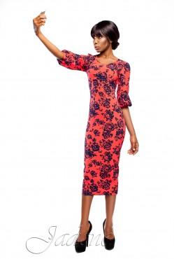 Платье Eva red