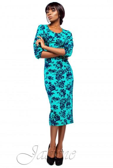 Платье Ева бирюзовый