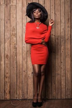 Платье Rosemary red