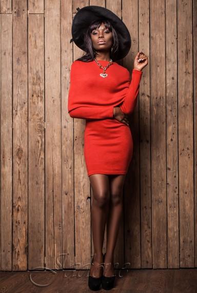 Платье Розмари красный