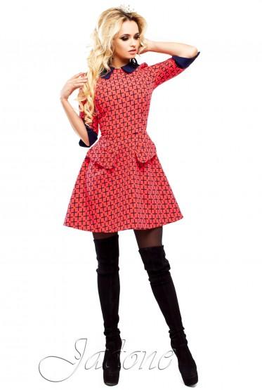 Платье Поларис красный