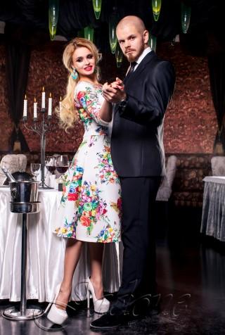 Платье Силин комбинированный