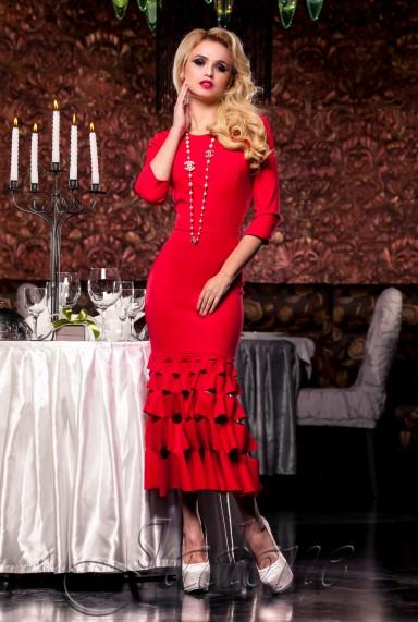 Платье Хилари красный