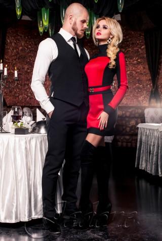 Платье-туника Скайфолл красный