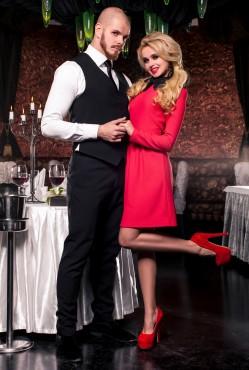Платье Romantic red