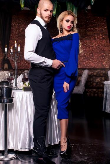 Платье Кимберли электрик