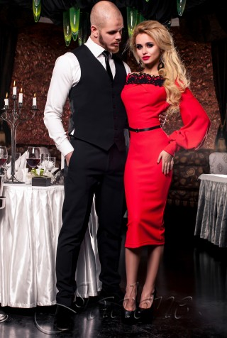 Платье Кимберли красный