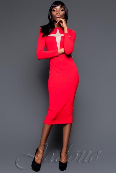 Платье Миранда 2016 красный