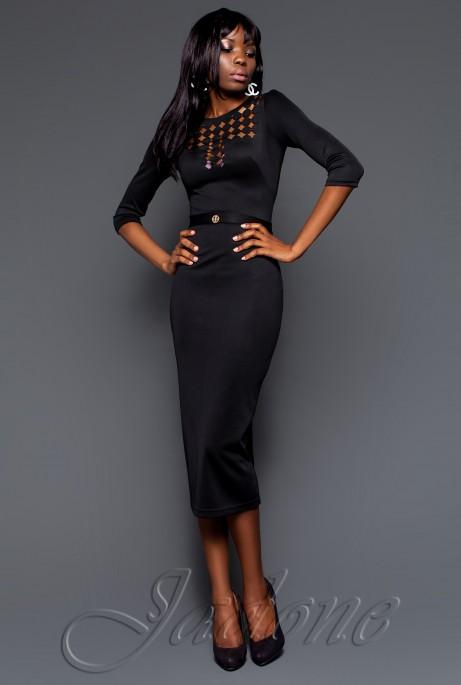 Платье Деним черный