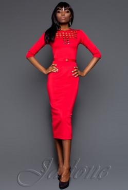 Платье Denim red