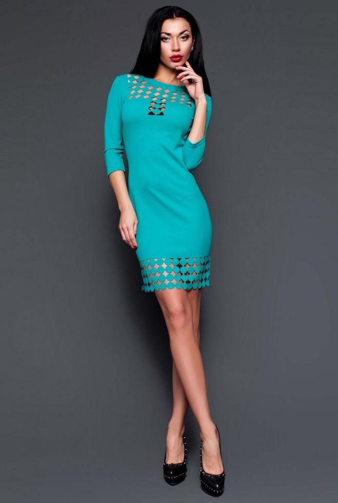 Платье-туника Анит бирюзовый