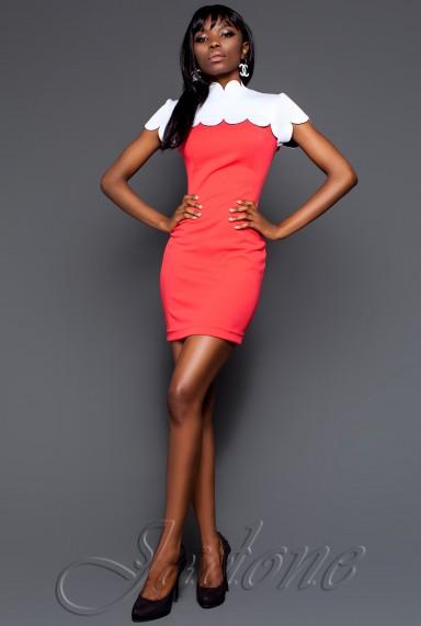 Платье Бенедикт коралловый