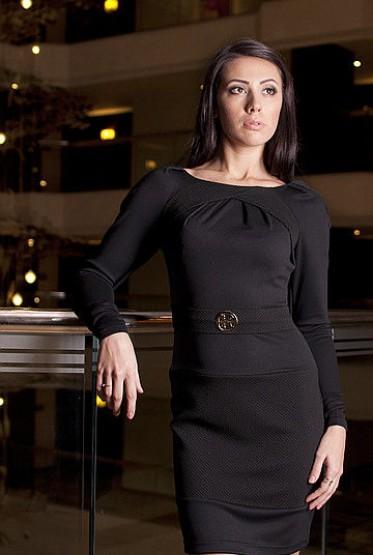 Платье Шарон черный