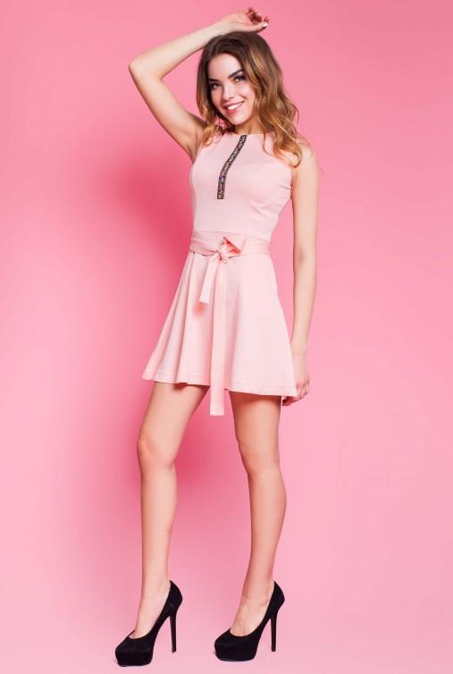 Платье Вермут персиковый