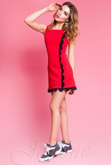Платье Викки красный