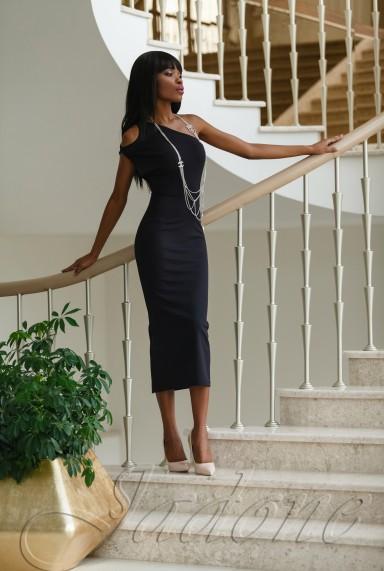 Платье Делли черный