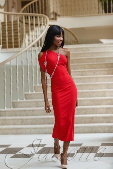 Платье Делли красный
