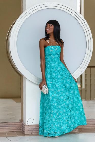 Платье Пике бирюзовый