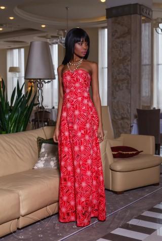 Платье Пике красный