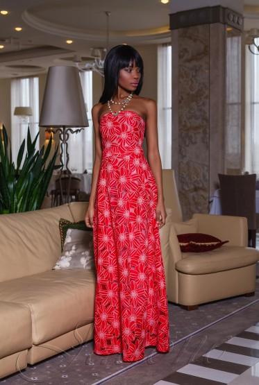 Платье Пике red