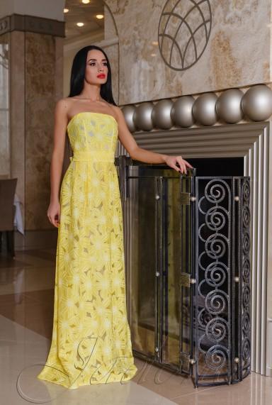 Платье Пике жёлтый