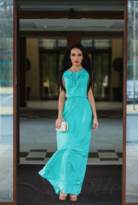 Платье Камилла бирюзовый
